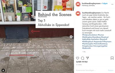 Instagram: Buchhandlung Heymann zeigt sich kreativ